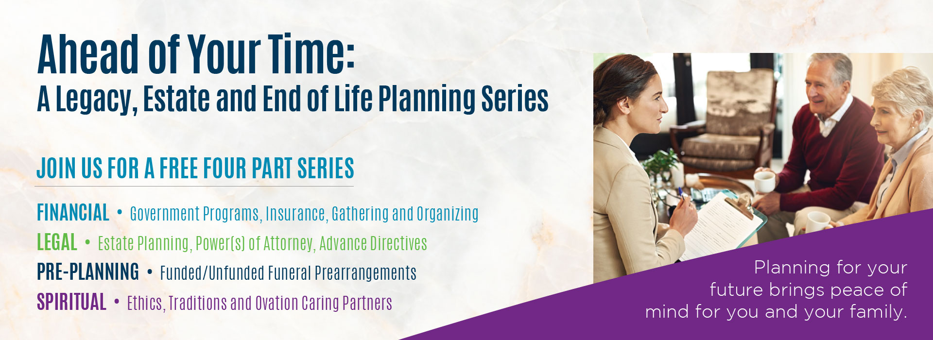 Event: Ahead of Your Time - A Legacy, Estate and End of Life Planning Series